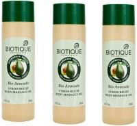 Biotique Bio Avocado Stress Relief Body Massage Oil 200ml*3 (600 Ml)