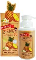 Gluta AHA 80% ALPHA ARBUTIN OVERWHITE Pineapple Body Lotion Whitening Face SPF 100+ (300 Ml)