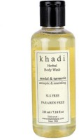Khadi Natural Sandal & Turmeric Body Wash- Sls & Paraben Free (210 Ml)