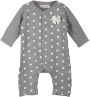 My Lil'Berry Baby Girl's Grey, Pink Sleepsuit