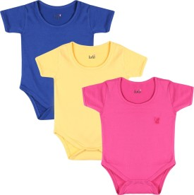 Lula Baby Girl's Pink, Dark Blue, Yellow Bodysuit