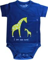 Little Green Kid Organic Cotton Indigo Giraffe Print Kimono Romper Baby Girl's, Baby Boy's Romper