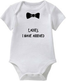 Chota Packet Baby Boy's, Baby Girl's White Bodysuit