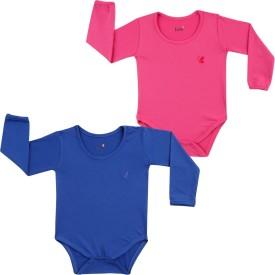Lula Baby Girl's Pink, Dark Blue Bodysuit
