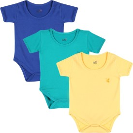 Lula Baby Girl's Dark Blue, Green, Yellow Bodysuit - BOLEGKF3DHCKTEYT