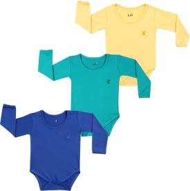 Lula Baby Girl's Dark Blue, Green, Yellow Bodysuit