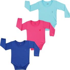 Lula Baby Girl's Pink, Dark Blue, Light Blue Bodysuit