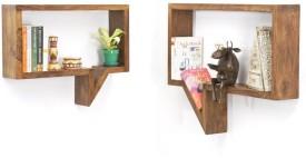 CP DECOR SOFTECH Solid Wood Open Book Shelf
