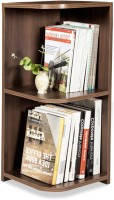 Debono Jolly Corner Book Rack With Three Shelves Engineered Wood Open Book Shelf (Finish Color - Acacia Dark Matt Finish)