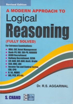 Buy A Modern Approach To Logical Reasoning by Aggarwal R. S.|Author;-English-S.Chand Publishing-Paperback_Edition-1st 1st Edition: Book
