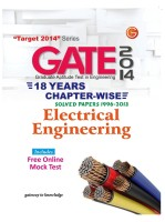 GATE 2014 - Electrical Engineering : 18 Years Chapter Wise Solved Papers (1996 - 2013) (English) 15th Edition: Book