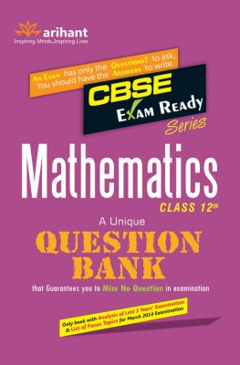 CBSE Exam Ready Series: Mathematics - Class 12th : A Unique Question Bank 2nd Edition price comparison at Flipkart, Amazon, Crossword, Uread, Bookadda, Landmark, Homeshop18
