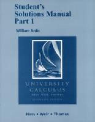 Student Solutions Manual Part 1 for University Calculus: Students Solutions Manual Pt. 1 price comparison at Flipkart, Amazon, Crossword, Uread, Bookadda, Landmark, Homeshop18