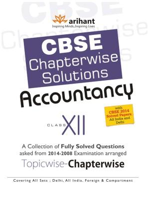 CBSE Chapterwise Solutions - Accountancy (Class - 12) (English) 4th Edition price comparison at Flipkart, Amazon, Crossword, Uread, Bookadda, Landmark, Homeshop18