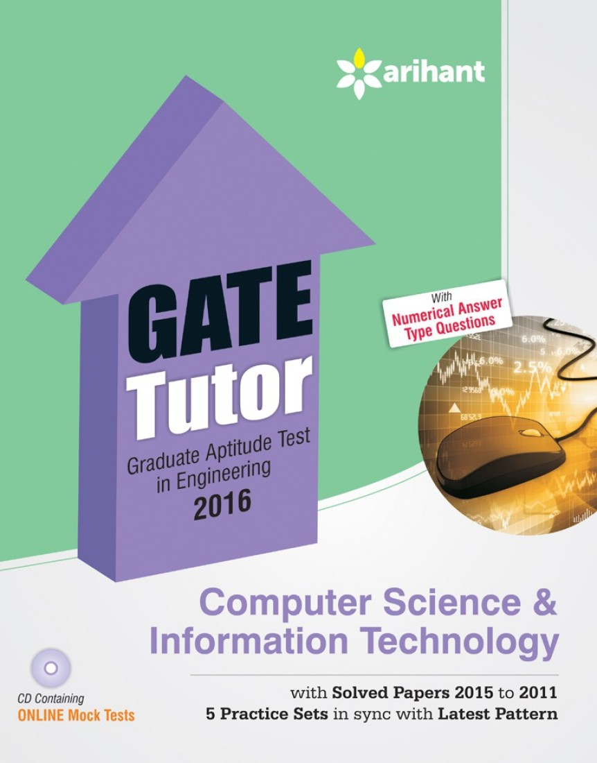 Compare GATE Tutor 2016 - Computer Science & Information Technology (With CD) (English) 6th  Edition at Compare Hatke