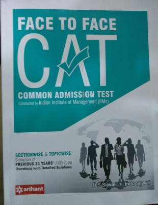 Face To Face CAT Common Admission Test (English) price comparison at Flipkart, Amazon, Crossword, Uread, Bookadda, Landmark, Homeshop18