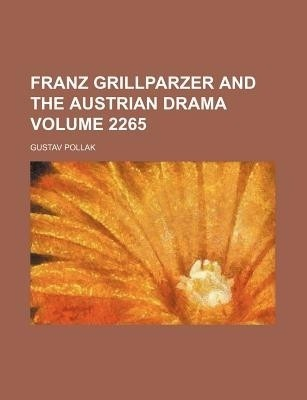 Franz Grillparzer english