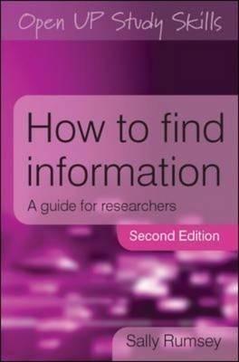 How to Find Information: A Guide for Researchers price comparison at Flipkart, Amazon, Crossword, Uread, Bookadda, Landmark, Homeshop18