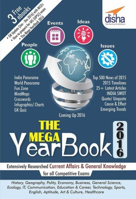 THE MEGA YEARBOOK 2016 - Current Affairs & General Knowledge for Competitive Exams (English) price comparison at Flipkart, Amazon, Crossword, Uread, Bookadda, Landmark, Homeshop18