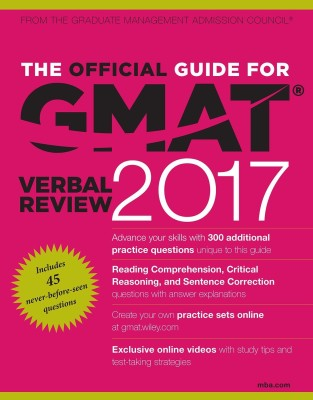The Official Guide for GMAT Verbal Review 2017 with Online Question Bank and Exclusive Video (English) price comparison at Flipkart, Amazon, Crossword, Uread, Bookadda, Landmark, Homeshop18