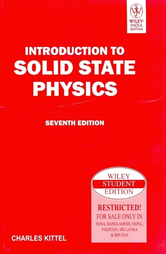 Download pdf online introduction to solid state physics by svdvs.