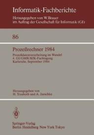 Prozessrechner 1984 (Paperback)