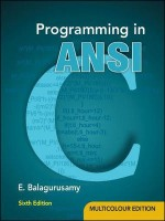 Programming in ANSI C (English) 6th Edition: Book