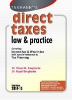 Direct Taxes - Law and Practice (English): Book