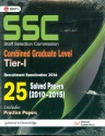 SSC Combined Graduate Level Tier I 25 Solved Papers (2010-2015) 2016 (English): Book