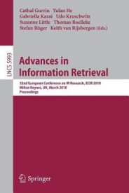 Advances in Information Retrieval (English) 1st Edition. Edition (Paperback)