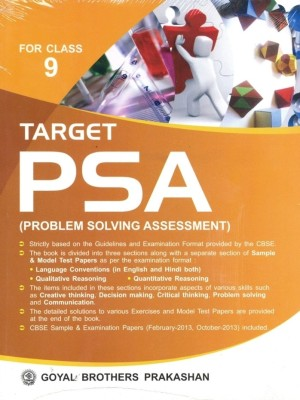 Buy TARGET PSA (Problem Solving Assessment) for Class-9 3rd  Edition: Book