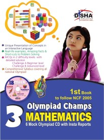 Olympiad Champs 3 Mathematics : 6 Mock Olympaid CD with Insta Reports (English) (Paperback)