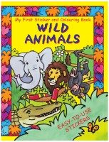 MY FIRST STICKER AND COLOURING BOOK:WILD ANIMALS - 075259382X (English): Book
