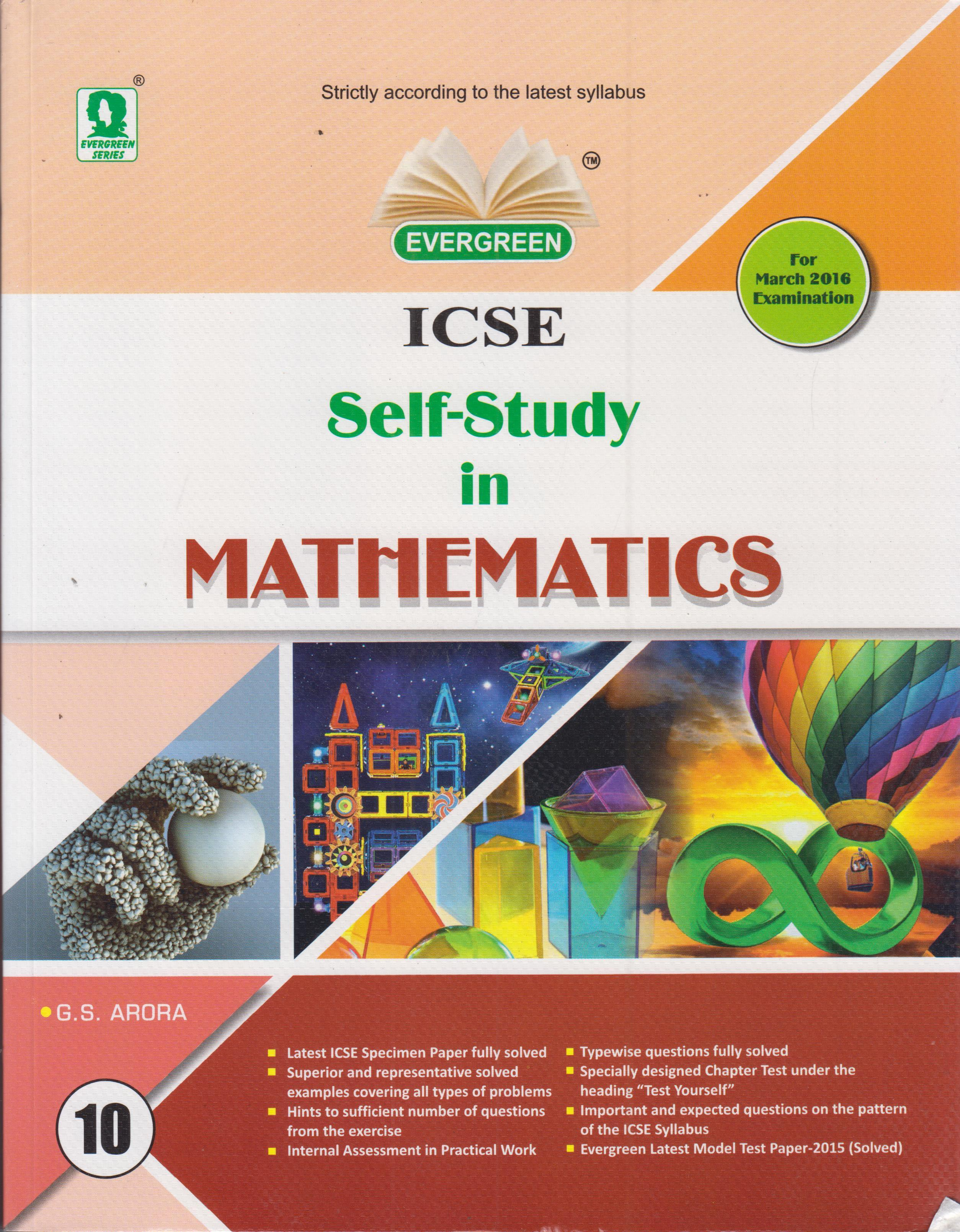 Evergreen ICSE SelfStudy in Mathematics Class10 (English) 01 Edition (Paperback) price in India.