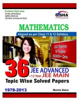36 Year JEE Advanced Plus 12 Year JEE Main : Mathematics - Topic Wise Solved Papers (English): Book