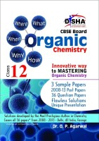 What, Where, When, Why & How - Organic Chemistry CBSE Class 12 : 3 Sample Papers, 2008 - 13 Past Papers, 36 Question Papers, Flawless Solutions, Unique Presentation (English) 1st Edition: Book