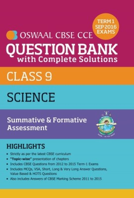 Oswaal CBSE CCE Question Bank With Complete Solutions For Class 9 Term I (April to Sep. 2016 ) Science (English) price comparison at Flipkart, Amazon, Crossword, Uread, Bookadda, Landmark, Homeshop18