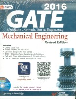 GATE Guide Mechanical Engg. 2016 (English) 2016 Edition: Book
