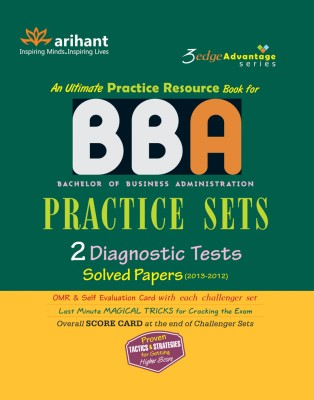 BBA Practice Sets : 2 Diagnostic Tests, Solved Papers (2013 - 2012) 1st Edition price comparison at Flipkart, Amazon, Crossword, Uread, Bookadda, Landmark, Homeshop18