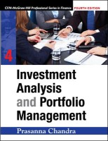 Investment Analysis And Portfolio Management, (W/Cd) 4th Edition: Book