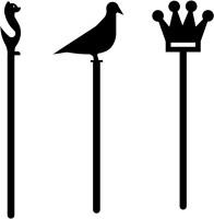 Ruha Humphrey - Kabootar - Queen's Crown Metal Bookmark