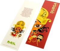 Paapaya Durga (pack Of 10) Regular Bookmark (Religious, Red)