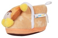 Ole Baby Cute Noddy Plush Soft Furry Organic 3d Toons 3-12 Months Booties (Toe To Heel Length - 12 Cm Yellow)