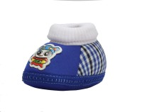Small Toes Checkered Primium Baby Booty In Blue Booties (Toe To Heel Length - 11 Cm Blue)