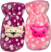 Littly Premium Fur Bottle Covers, Pack Of 2 (Pink, Purple)