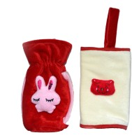 Tiny Petals Baby Bottle Cover (Red, Beige)