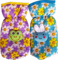 Littly Floral Print Bottle Covers Combo (Blue, Purple)
