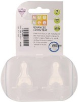 Mee Mee Advanced Feeder Silicon Teat MM-1856S Medium Flow Nipple (Pack Of 2 Nipples)