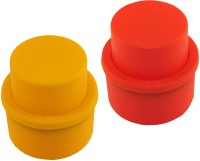 Meded Aerated Drinks Fizz Silicone Bottle Stopper (Red, Yellow)