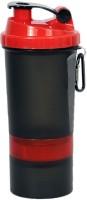 UDAK Two Storage Loop 500 Ml Bottle, Shaker, Sipper, Flask (Pack Of 1, Cherry, Black)